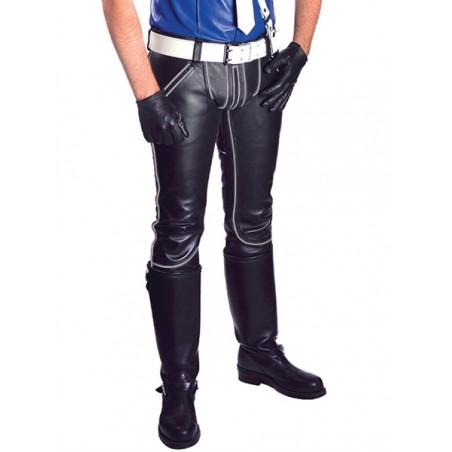 Mister B Leather FXXXer Jeans Black-Grey